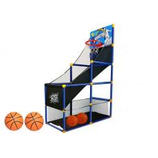 Kosárlabda szett palánkkal és tárolóval 142 cm Inlea4Fun HX SPORTS  Előnézet