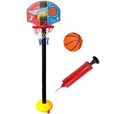 Kosárlabda palánk labdával és pumpával Inlea4Fun SUPER SPORT SET BASKETBALL  Előnézet