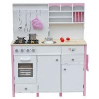 Inlea4Fun MERYS játékkonyha - fehér/rózsaszín