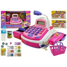 Inlea4Fun CASH REGISTER NO.2815C Játék pénztárgép - rózsaszín Előnézet