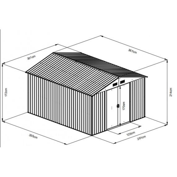 MAXTORE 1012 Kerti tároló ház - Fautánzat