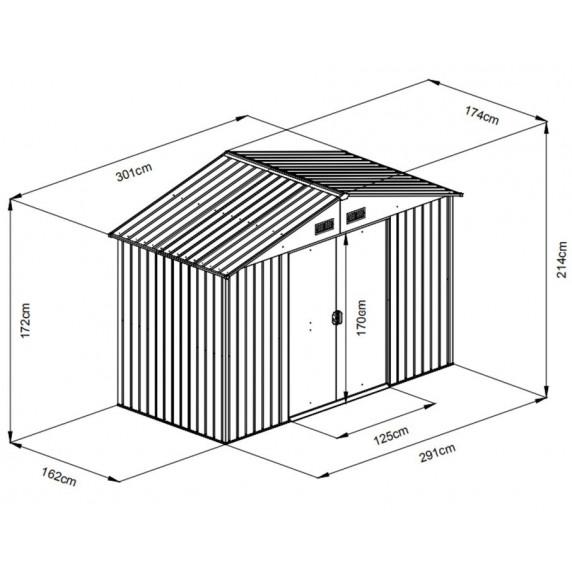 MAXTORE 106 Kerti tároló ház - Antracit