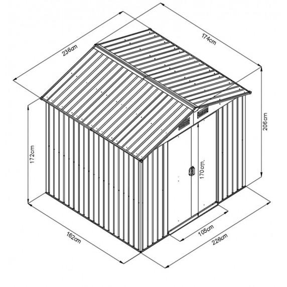 MAXTORE 86 Kerti tároló ház - Barna