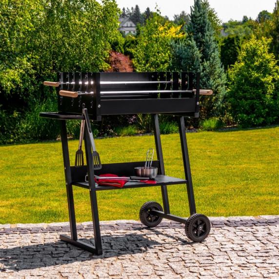 Szögletes faszén grill MIR6045