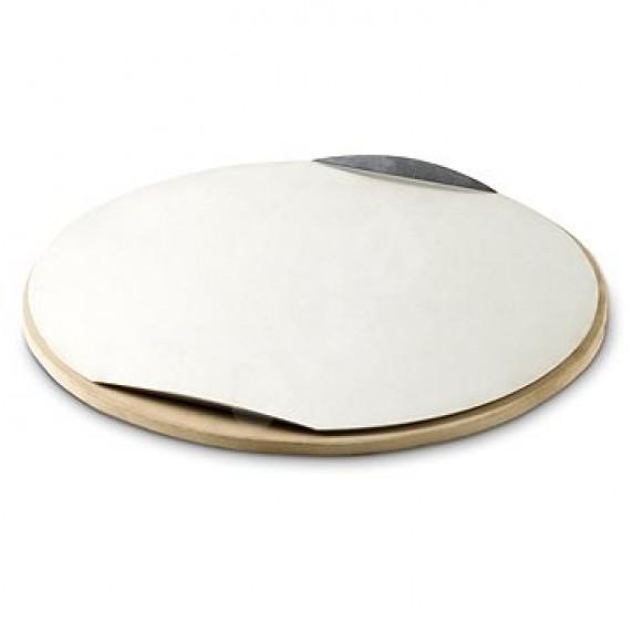 Pizza kőlap alumínium tálcával és vágóval BBQ Line AE501