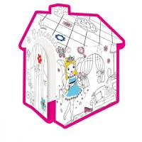 MOCHTOYS Coloring House 11122 Kiszínezhető papírház - Hecegnő
