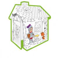 Kiszínezhető papírház Lovagok MOCHTOYS Coloring House 11123