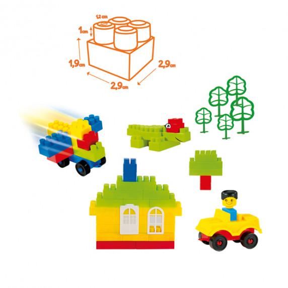 Építőkocka készlet 145 darab MOCHTOYS Combi Blocks 5787