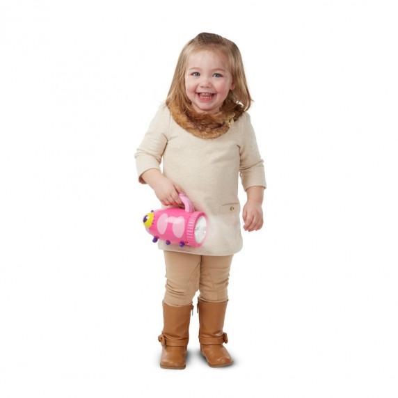 Bogár alakú zseblámpa gyerekeknek -rózsaszín