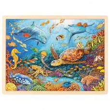 Fa puzzle Goki - tenger világa Előnézet