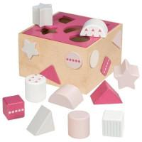 Formabedobós fa játék Goki - rózsaszín