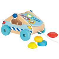 Formabedobós fa játék Goki - autó