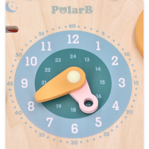 Fa játék óra és naptár VIGA PolarB