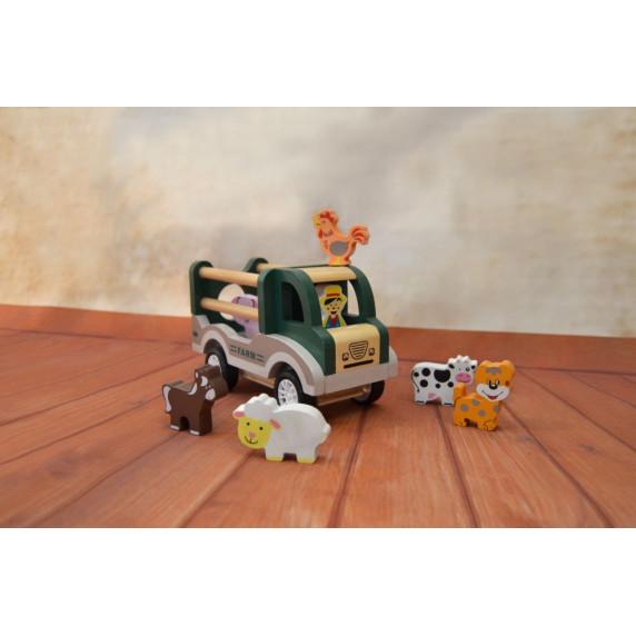 Fa haszonállat szállító autó MAGNI Farm Car