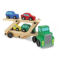 Fa autó szállító kamion MELISSA & DOUG Car carrier truck