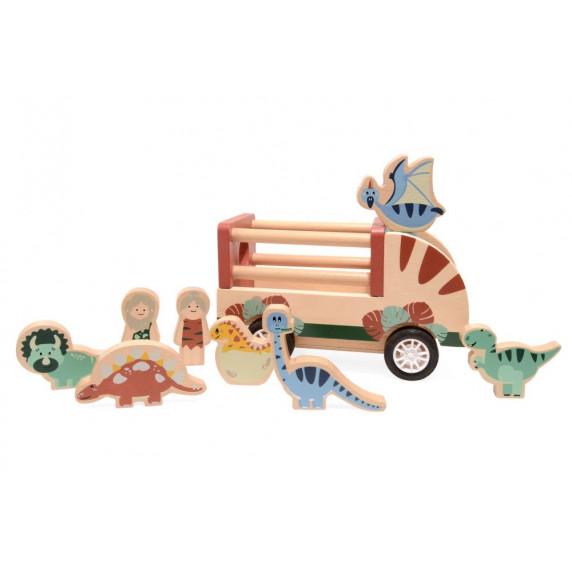 Fa dinó szállító autó dinókkal MAGNI Dino Car