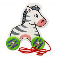 Húzható fajáték zebra VIGA