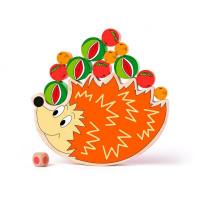 Egyensúlyozós fajáték sünis WOODYLAND Balance game hedgehog
