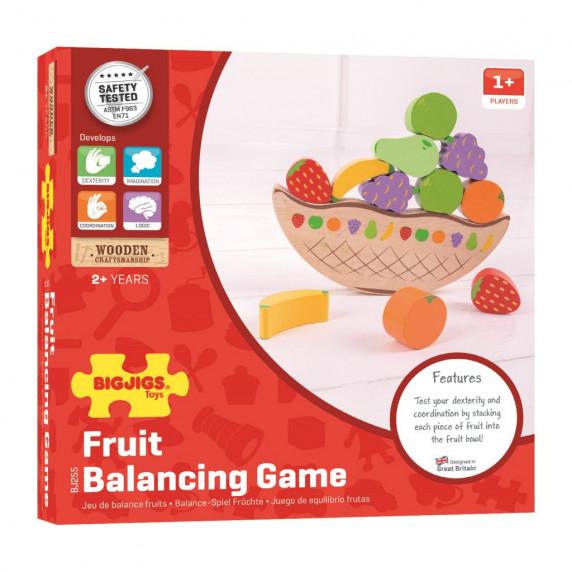 Egyensúlyozós fajáték gyümölcsök BIGJIGS Balance game fruit