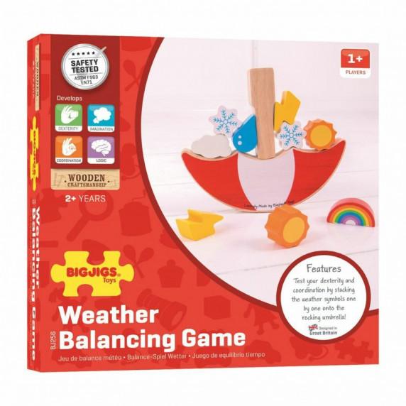 Egyensúlyozós fajáték időjárás BIGJIGS Balance game weather