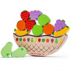 Egyensúlyozós fajáték gyümölcsök BIGJIGS Balance game fruit Előnézet