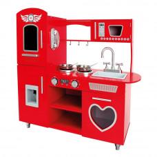 Fa játékkonyha BINO Play Kitchen - piros Előnézet