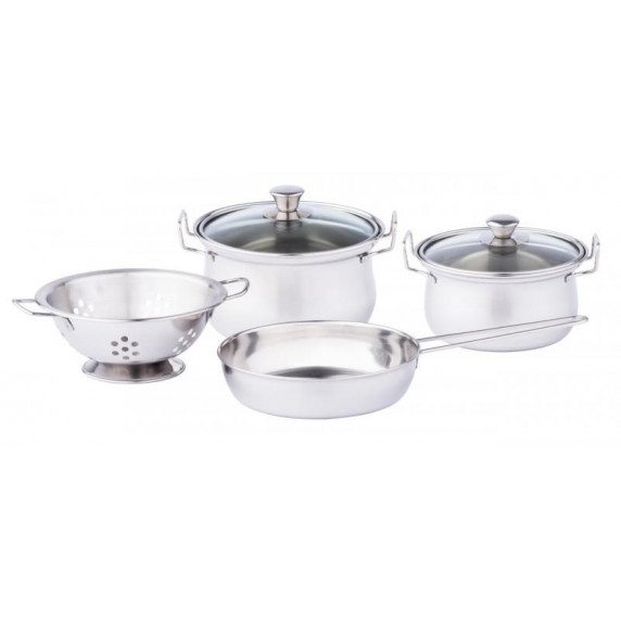 Játék konyhai fém edénykészlet WOODYLAND Cookware play set