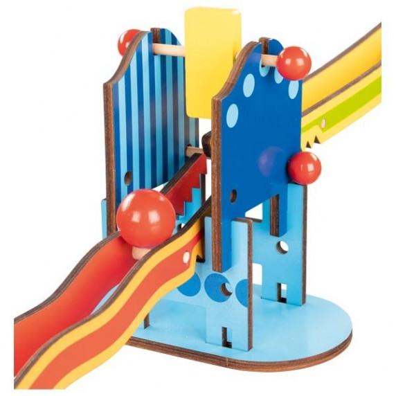 Fa golyópálya építő játék GOKI Knight's Castle