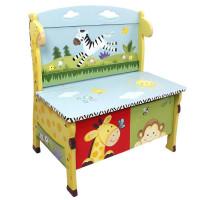 Gyerek pad játéktárolóval FANTASY FIELDS Sunny Safari