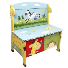 Gyerek pad játéktárolóval FANTASY FIELDS Sunny Safari Előnézet