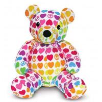 Plüss medve szívecskés Melissa&Doug HOPE BEAR