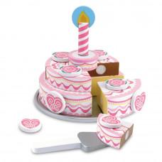Fa szeletelhető torta szett MELISSA&DOUG Triple Layer Party Cake Előnézet