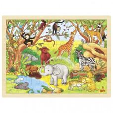 Fa puzzle Goki -  Afrika Előnézet