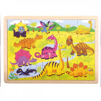 Fa puzzle Bino - Dinoszauruszok