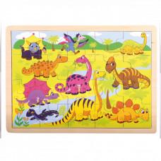 Fa puzzle Bino - Dinoszauruszok Előnézet