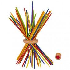 Színes mikádó társasjáték gyűrűvel GOKI Colored Előnézet