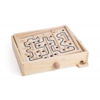 Fa labirintus golyóvezető játék WOODYLAND