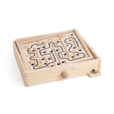 Fa labirintus golyóvezető játék WOODYLAND Előnézet