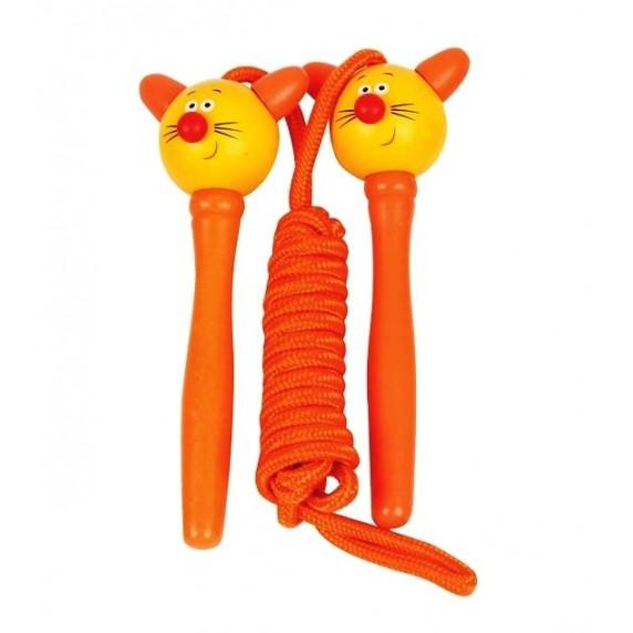 Ugrálókötél Woodyland Skipping Rope CAT - Narancssárga