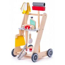 Fa takarítókocsi játékszett - Woodyland Előnézet