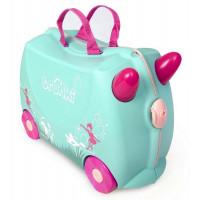 TRUNKI gurulós gyerek bőrönd - Flora