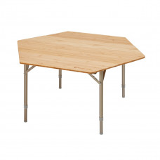 Kemping asztal KING CAMP Bamboo Color 100x100x60cm Előnézet