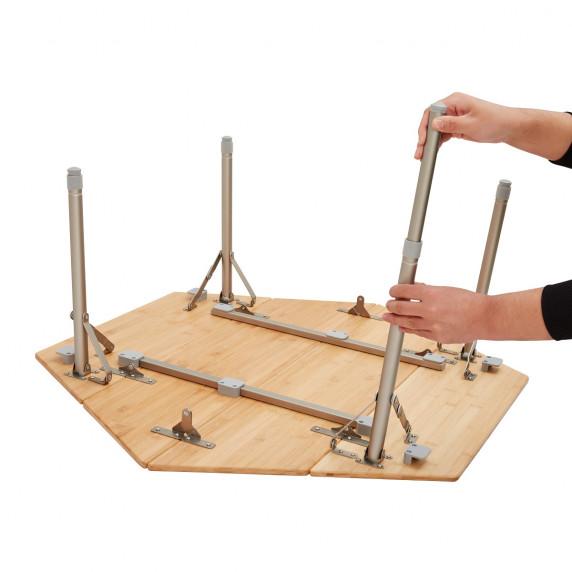 Kemping asztal KING CAMP Bamboo Color 100x100x60cm
