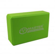 Jógatégla MASTER Yoga Block 23x15x7,5 cm - zöld Előnézet