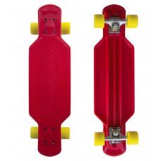 """MASTER Longboard műanyag gördeszka 29"""" - Piros Előnézet"""