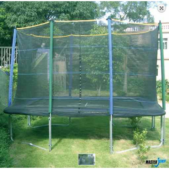 Védőháló négyszögletes trambulinra MASTERJUMP 300x210 cm