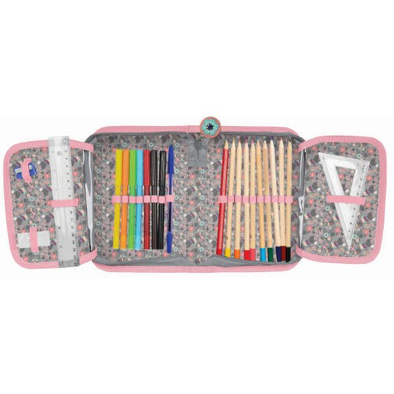 Lovas töltött tolltartó PASO 19 x 13 x 4cm -rózsaszín