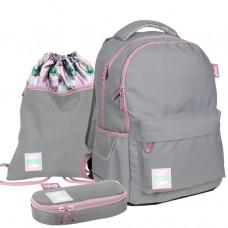 Iskolai szett Barbie szürke PASO - iskolatáska, tornazsák, tolltartó Előnézet