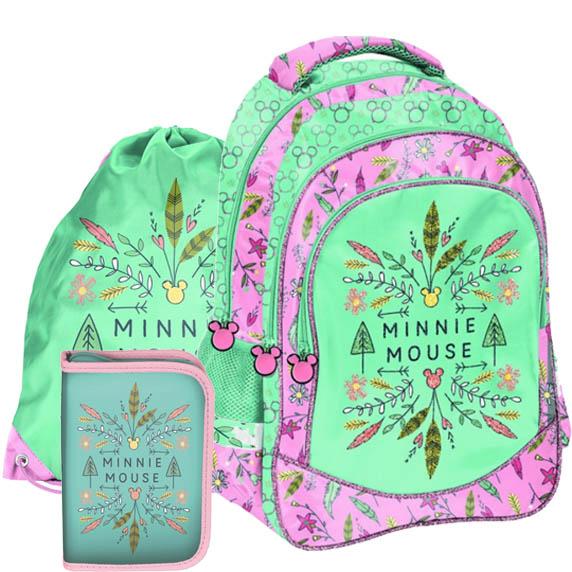 Iskolai szett Minnie Mouse PASO - iskolatáska, tornazsák, tolltartó