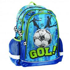 PASO GOL! ergonomikus iskolatáska 42x30x18 cm - Kék Előnézet